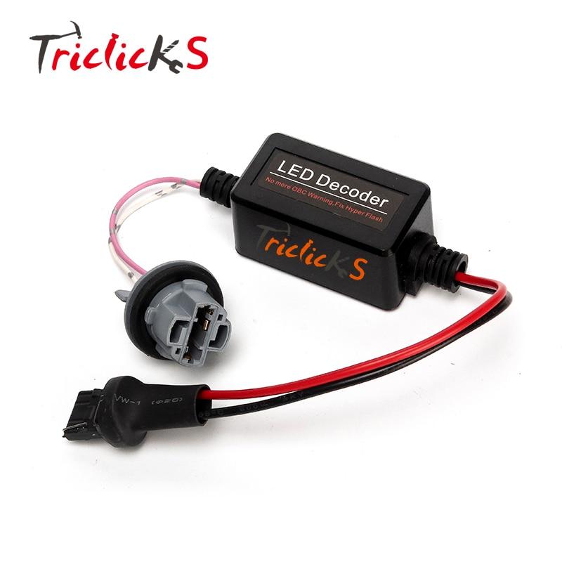 Triclicks 2x 7440 W21W T20 Canbus Error Free Resistor LED Decoder Warning Error Canceller For LED Turn Signal Bulb Audi VW Benz