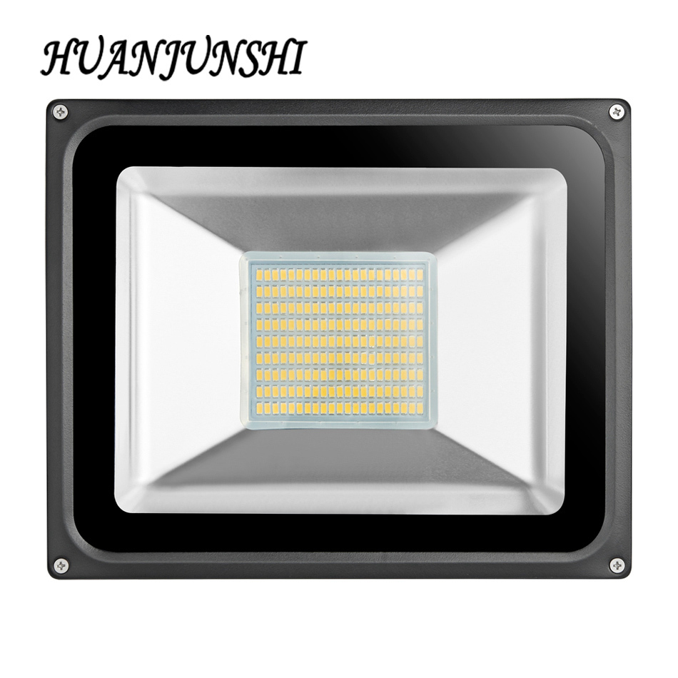 high quality Ultal Thin 220V 100W Led Flood Light LED Floodlight Spotlight Waterproof Outdoor Wall Lamp Projectors garden light