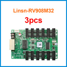 3pcs Linsn RV908 RV908M32 receiving card work with ts802d for outdoor display led rental / fixed