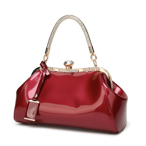 Image 2 - ZENBEFE Drop Shipping Evening Bags Patent Leather Women Handbags Fashion WomenS Shoulder Bags Ladies Clutchs Wedding Party Bags