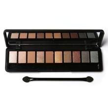 FOCALLURE 4Pcs Pro Makeup Set 10 Colors Warm Nude Colors Eyeshadow Black Mascara Eyeliner with 1Pcs Shadow Brush Kit