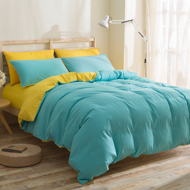 Bedding Sets Solid Color Polyester Cotton Home Textile Duvet Cover Case  Pilollow Bed Cover Bed Sheet Twin Full King In Bedding Sets From Home U0026  Garden On ...