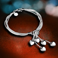 Manti new arrival fashion women simple heart bracelets bangles statement 925 sterling silver jewelry fine jewelry B0116