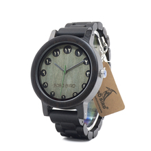 BOBO BIRD Wooden Men Watches Arabic Numerals Display Bamboo Watch relojies hombre clock as Gift in wood box custom logo
