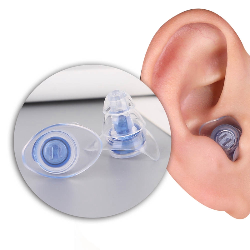 1 Pair Soft Silicone Ear Plugs Ear Protection Reusable Professional Music Earplugs Noise Reduction For Sleep Bar Bands Sport