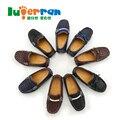 2015 детская обувь весной и осенью ребенок мужского пола мокасины ребенка кожа ребенка одной обуви, Мальчики обувь