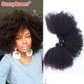 Солнечный королева продукты волос 6A 3 шт. эфиопские девственные волосы переплетения афро кудрявый вьющиеся волосы утка эфиопские афро кудрявый вьющиеся волосы пучок