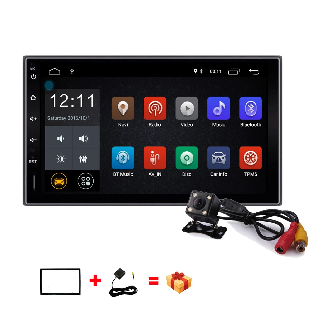 2 Din Android 7.1 Car Multimedia Player 7 inch Car GPS Navigation Wifi Bluetooth USB Car Radio Stereo Audio Player Video Player td070wgcb2 supply original tongbao 7 inch car audio navigation display lamp