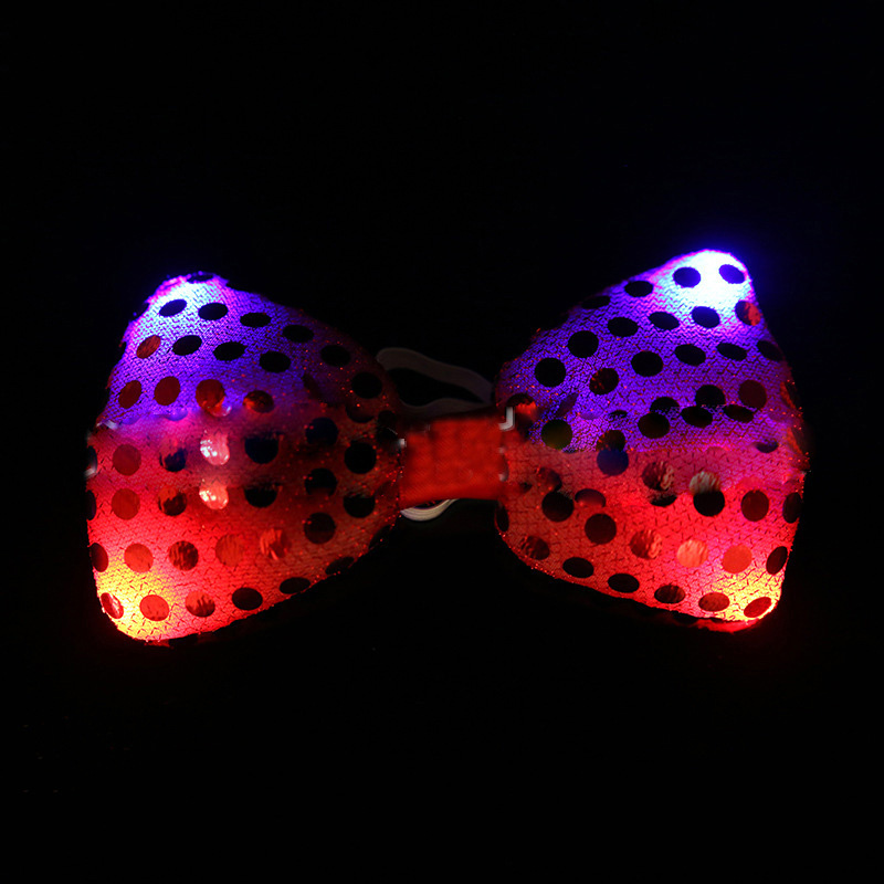 5pcs lot LED Luminous Neck Tie Mixcolor Flashing Fashion Bow Tie Party Wedding Dancing Stage Glowing Ties Hot Sale in Glow Party Supplies from Home Garden