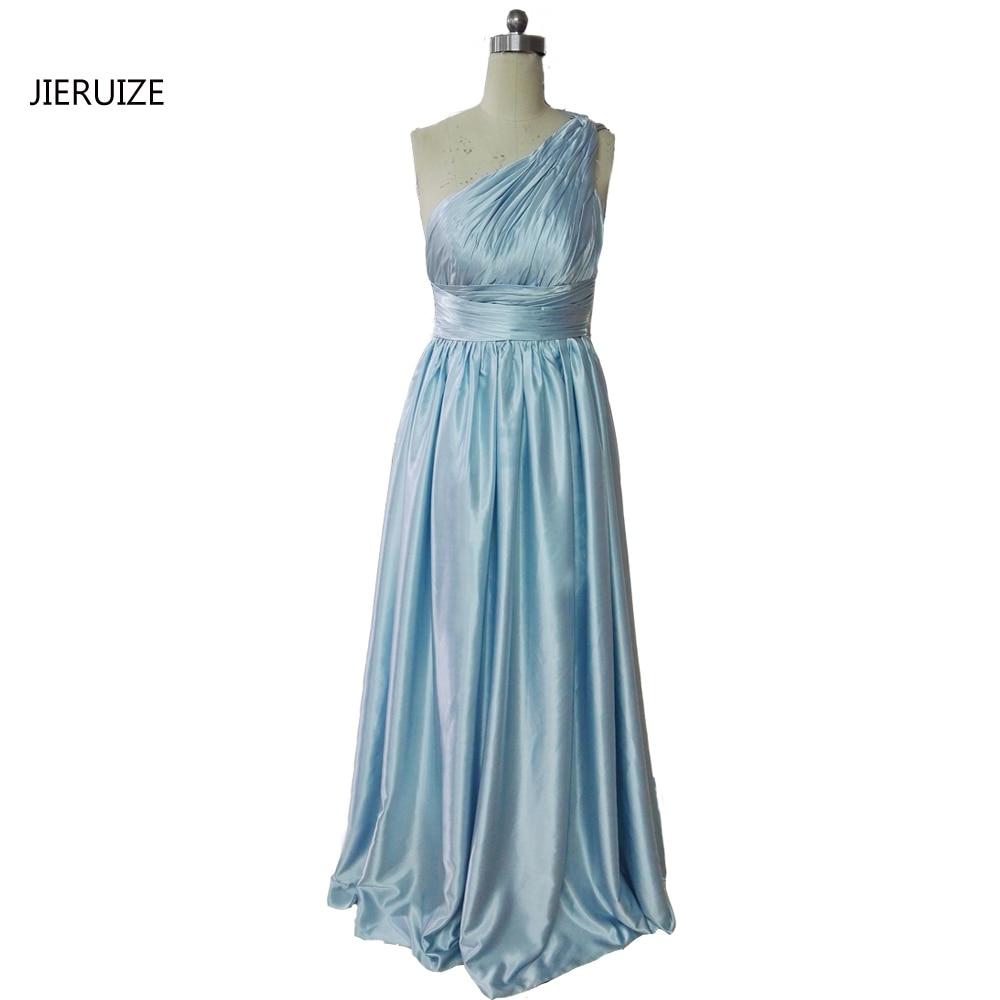 Aliexpress.com : Buy JIERUIZE Light Blue Satin One Shoulder Prom ...
