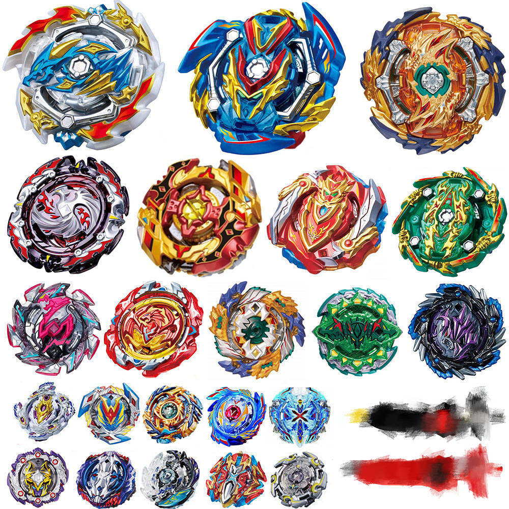 Tops <font><b>Burst</b></font> Launchers <font><b>Beyblade</b></font> Toys <font><b>B</b></font>-<font><b>133</b></font> <font><b>B</b></font>-134 <font><b>B</b></font>-139 <font><b>Burst</b></font> bables Toupie Bayblade Metal God Spinning Tops Bey Blade Blades Toy image