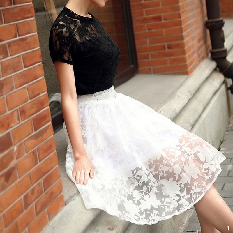 Aliexpress.com : Buy 2015 Fashion vintage High waist Midi tutu ...