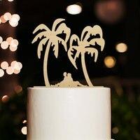 Beach Wedding Silhouette Cake Topper Bride And Groom Cake Topper Funny Cake Topper Custom Tree Cake