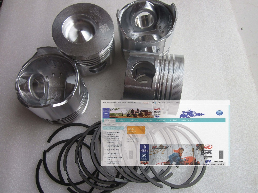 Quanchai QC480D engine parts for tractor or generator set, the set of piston and piston rings, parts number: luoyang yto engine lr4108t53 parts the set of piston rings part number rb 050002 1 03 1 0200 1