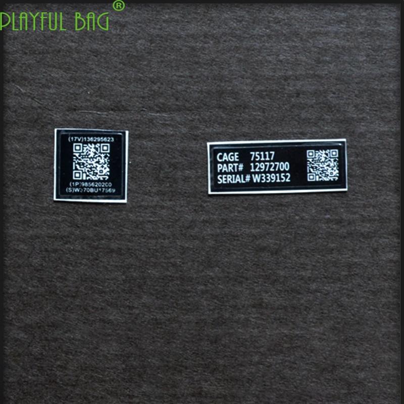sticker MK18 weapon model 2D code information card M4 metal paste Jinming scar under the water supply bomb HK416 Le Hui AK L20(China)