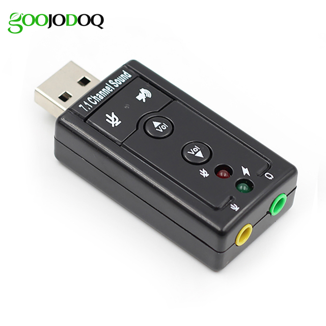 7.1 Channel External USB Sound Card USB to Jack 3.5mm Headphone Adapter Audio Mic Sound Card For Mac Win XP 7 8 Android Linux