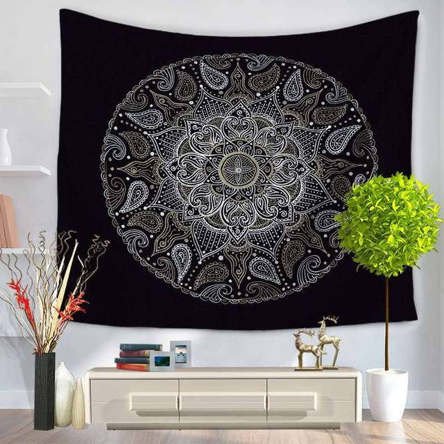 Indian Mandala Tapestry Wall Hanging Boho Printed Beach Throw Towel Yoga Mat Table Cloth Bedding Home Decoration Hippie Tapestry