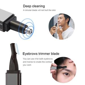 Image 3 - ANLAN trymer do włosów w nosie dla mężczyzn trymer do uszu trymer do włosów w nosie trymer do nosa bezprzewodowy akumulator trymer do brody