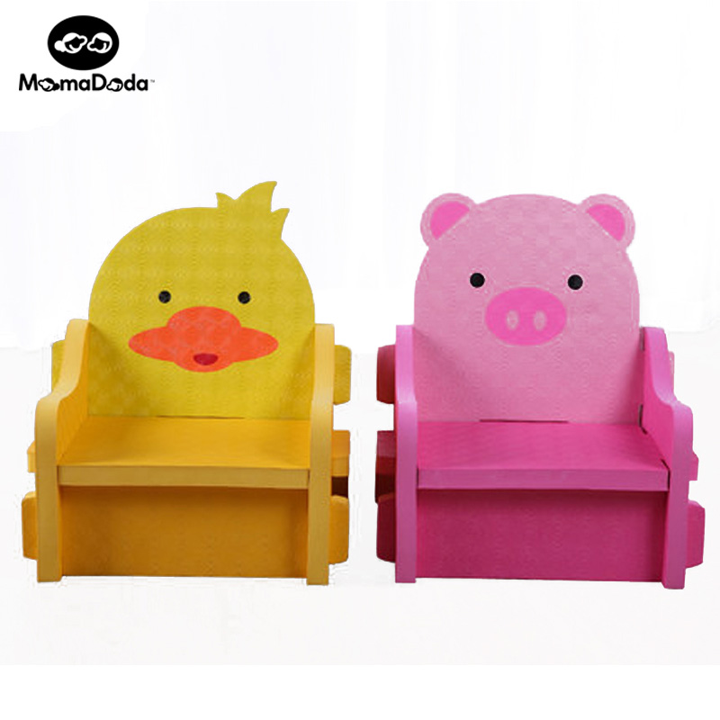 2 colors Carton Animals Puzzle Baby Chair Bear 30KG Design Chair For Babies Cut Baby Toy Play Mat Accessories Inflatable Sofa pilsan puzzle 4x4 animals