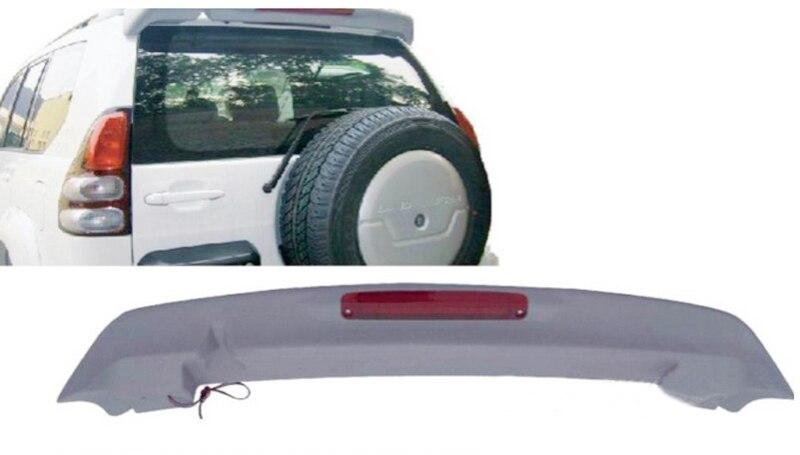 For Toyota Prado FJ120 2003 2004 2005 2006 2007 2008 2009 Unpaint Aero Wing Spoiler with LED