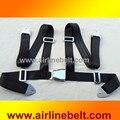 Completo inoxidable Antioxidante Aviones avión hebilla de Estilo H 4-puntos racing cinturón de seguridad al aire libre hebilla de la Seguridad del coche del cinturón de seguridad Arnés