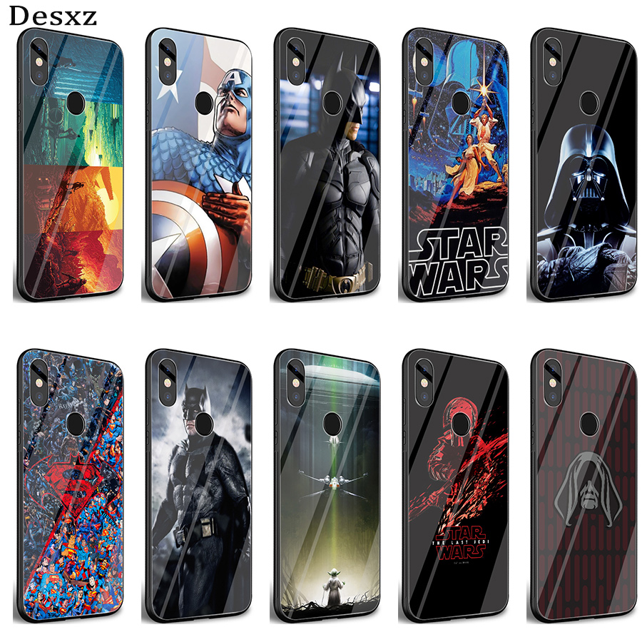 Desxz <font><b>Star</b></font> <font><b>War</b></font> Deadpool Ameircan Superhero Case Glass For <font><b>Xiaomi</b></font> <font><b>Redmi</b></font> <font><b>Note</b></font> 5 <font><b>6</b></font> 7 <font><b>Pro</b></font> 6A A1 4X 9 Pocophone F1 <font><b>Cover</b></font> image