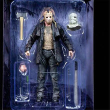 NECA 2009 Deluxe Edition Friday The 13th JASON VOORHEES PVC Joint Movable Collection of Christmas Gifts for Toys 18cm(China)