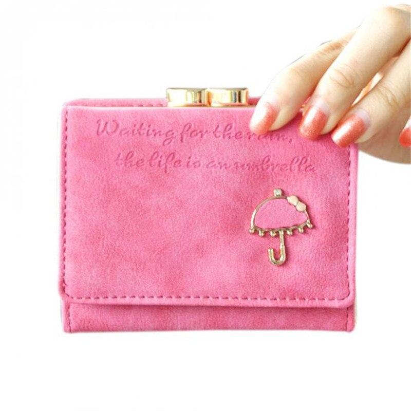 2017 marca diseñador mujeres cartera Bolsas mejor cuero del botón del  embrague del monedero de señora bolso corto bolso para mujer portefeuille  femme 00720a60f3b2