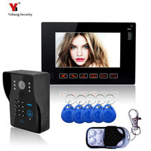 Yobang Security 9 Inch Video Intercom Night Vision Touch Buttion Video Doorbell Phone Apartment Doorbell Intercom 5pcs RFID card
