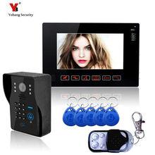Yobang Security 9 Inch Video Intercom Night Vision Touch Buttion Video Door Phone Apartment Doorbell Intercom 5pcs RFID card