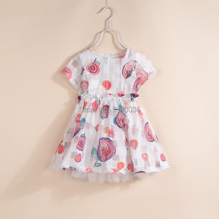 &E-babe&Wholesale 2015 NEW Baby Girls Summer Catimini Brand Princess Printed LollipopTulle Cute Dress10 Pcs Lot Free Shipping catimini girls t shirt 04 25