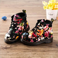 2016 Autumn Winter New Casual Floral Children's Boots Boys Girls Martin Boots Baby Anti-skid Cotton Shoes Kids Warm Boots