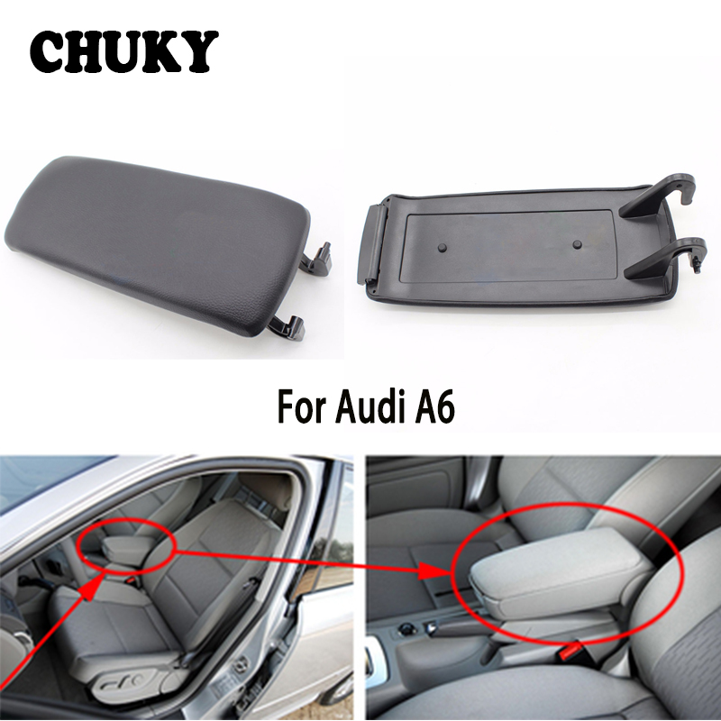 1pcs Leather Car Center Console Armrest Cover For Audi A6 C5 1999 2000 2001 2002 2003 2004 2005 Auto Accessories image