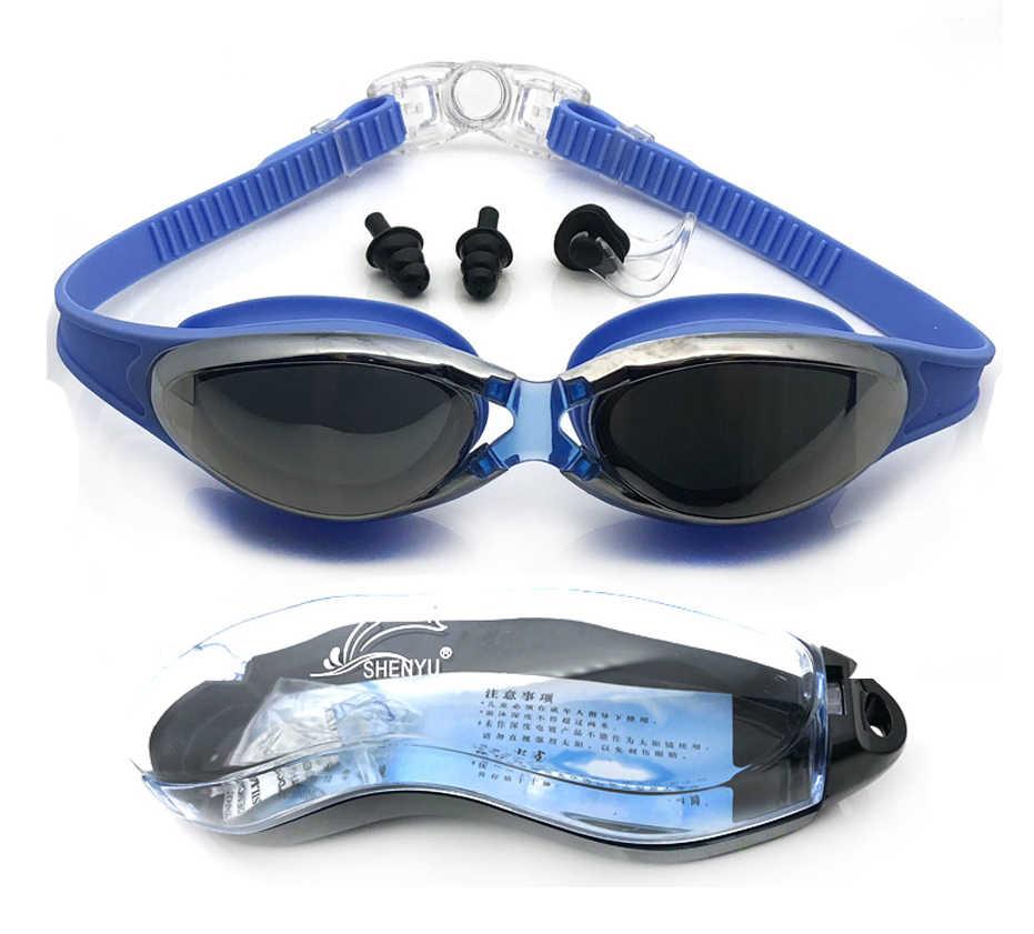 Unisex Swim Eyewear Mannen Vrouwen Professionele Waterdichte Silicagel Zwembril Anti Fog UV Bescherming Zwemmen Bril