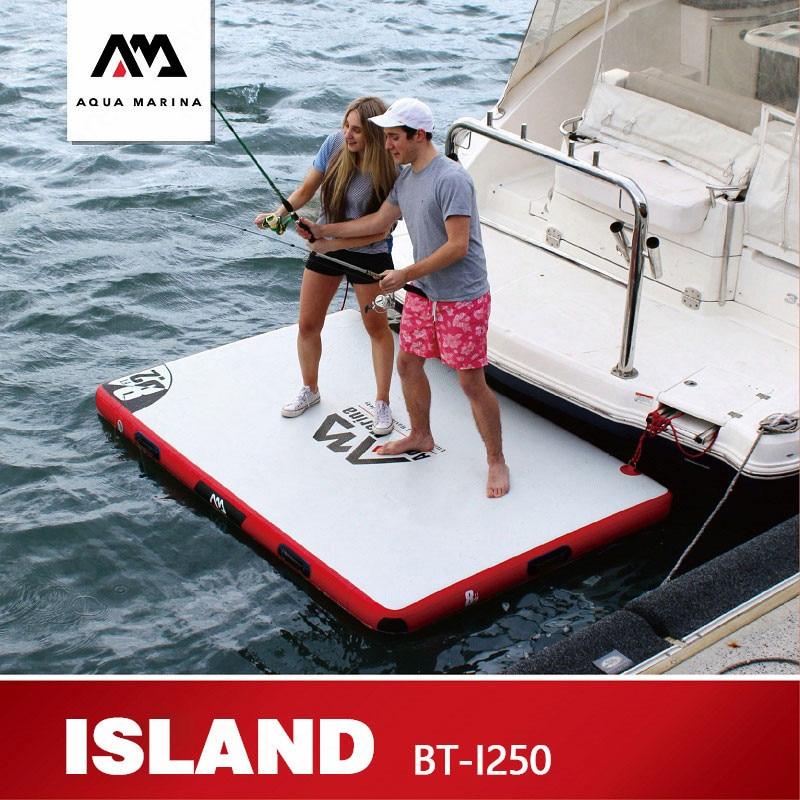 AQUA MARINA ISLAND Floating Plate Surf Floating Board Inflation Surfing Fishing Platform Work Platform 250 160
