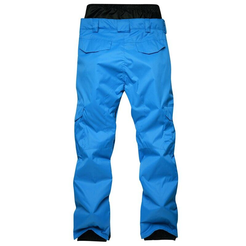 Nouveauté hiver pantalon de Ski pour hommes en Nylon et Spandex remplissage de tissu respectueux de l'environnement PP coton couleur snowboard pantalon taille S-XL - 2