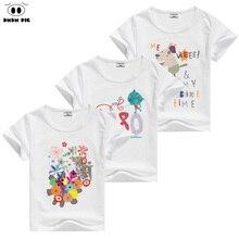 Фотография 2016 dmdm pig New Baby Boys Cartoon Car Short Sleeve Tshirt Kids Summer T-shirt Kids Summer Clothing