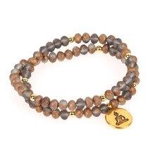 цена на Trendy Multi-Layer Beaded Bracelet Women Girl Handmade Lotus Yoga Buddha Charm Bracelets Friendship Wedding Jewelry Pulsera