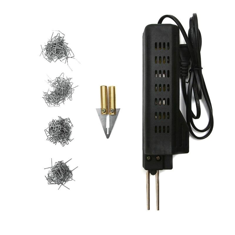 US Plug Stapler Bumper Fender Fairing Weld Gun Plastic Repair Tool Kit for Car Drop shipping