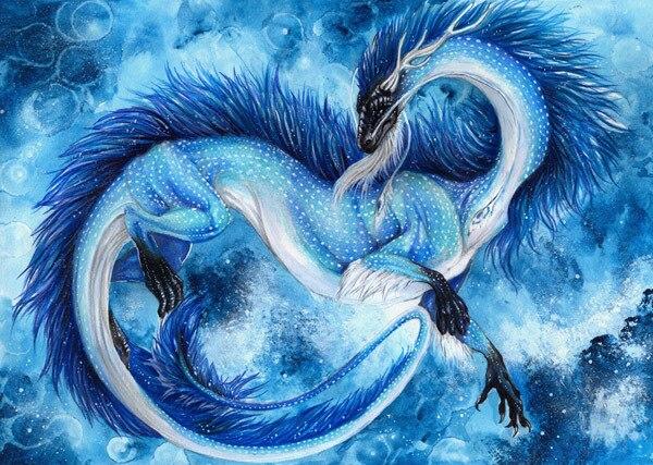 Diy Gambar Berlian Bordir Dekorasi Lukisan Naga Berlian Cross Stitch