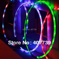 Оптовая диаметр 70 СМ led hula hoop брюшной тренажер ab тренажерный зал пилатес спорта для здоровья подарок бесплатная доставка