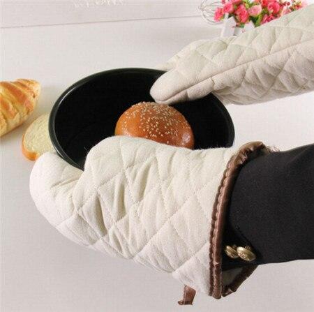 2pcs set Heat Resistant Glove Microwave Oven Cooking Baking BBQ Oven Pot Holder Mitt Kitchen 4N1249