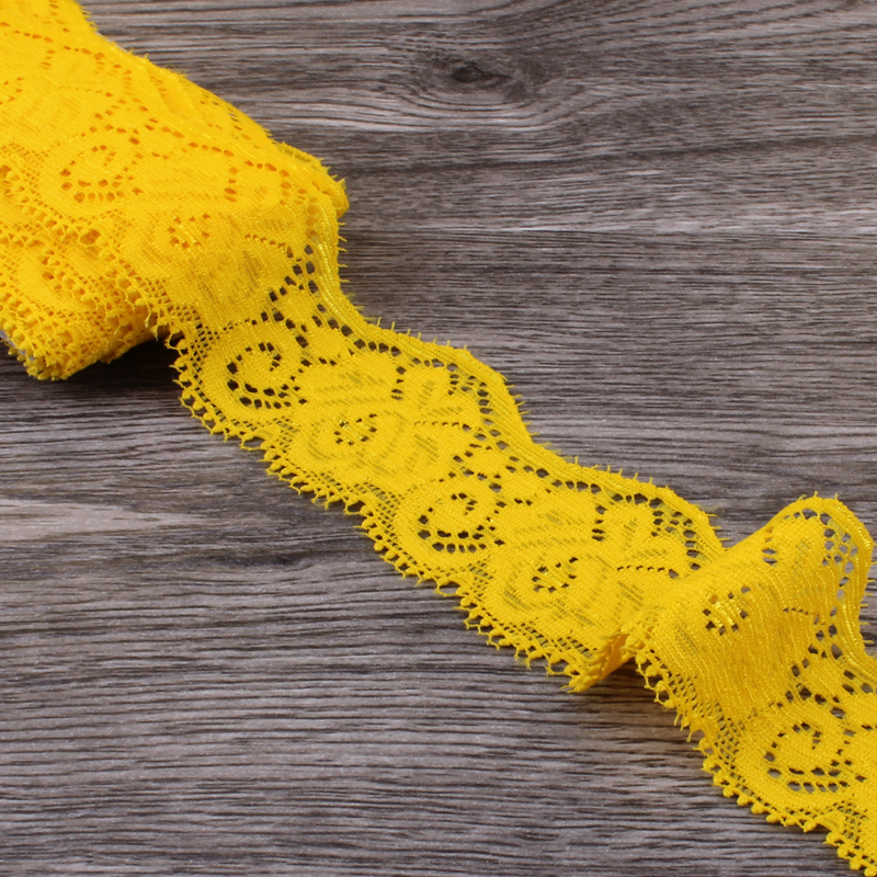 5b55f3320558 1pack=10yards 3.5cm Yellow Tulle Wave Lace Trim Lace Ribbon for Ornaments  Elastic Lace Stretch for Baby Girls Hair Accessories-in Lace from Home &  Garden on ...
