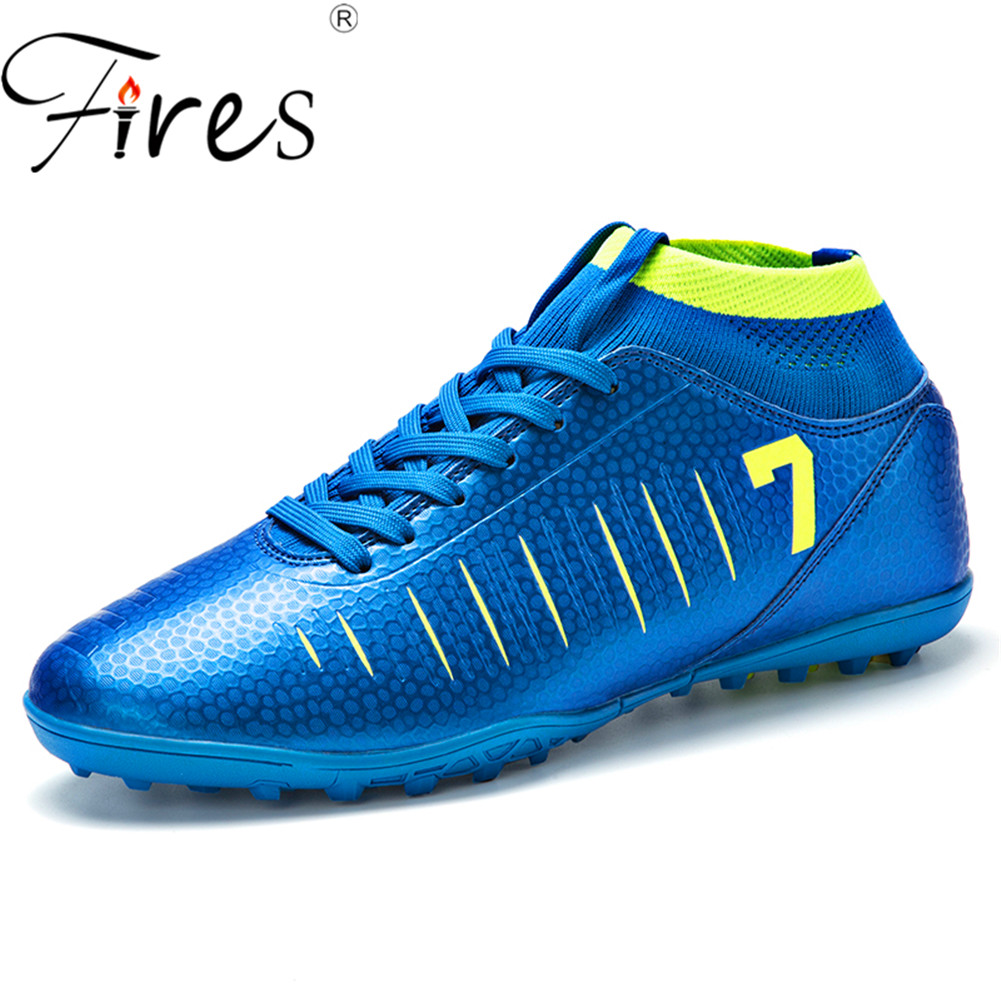 Fires Ankle High Tops Soccer Boots For Men Football Boots Cleats & Short Spikes Mens Football Shoes Sneakers Indoor Turf FutsalFires Ankle High Tops Soccer Boots For Men Football Boots Cleats & Short Spikes Mens Football Shoes Sneakers Indoor Turf Futsal