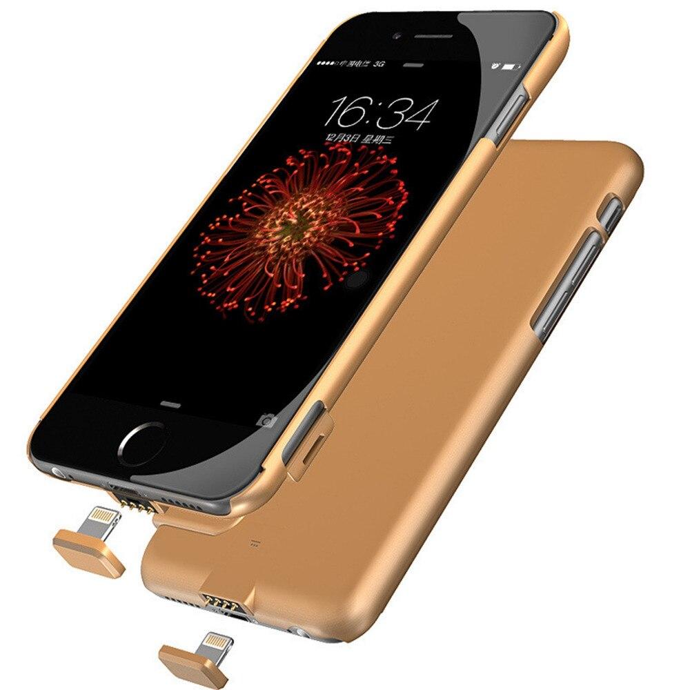 bilder für Für iphone 7 externe batterie bewegliche aufladeeinheitsenergienbank abdeckung fall für iphone 7 plus backup aufladeeinheitsenergienbank batterie fall