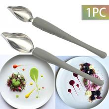 Креативная декоративная ложка для украшения суши, инструмент для рисования, дизайн соуса, тарелка, жаропрочная посуда для десерта, торта, кулинарная ложка, кофейный инструмент
