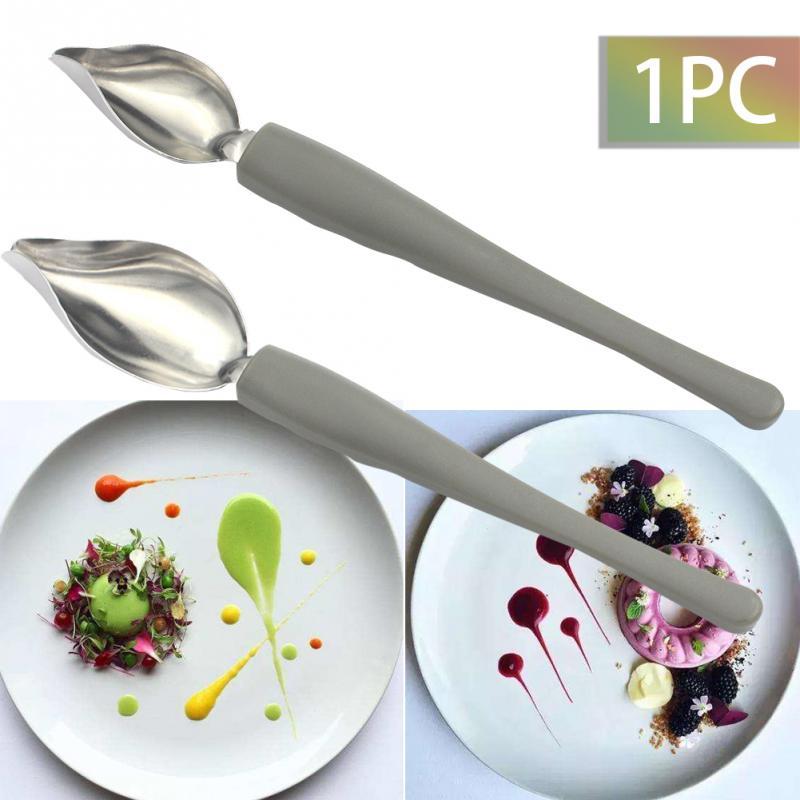 Creative Deco Spoon Decorate Sushi Food Draw Tool Design Sauce Dressing Plate Dessert Bakeware Cake Gastronomy Spoon Coffee Tool