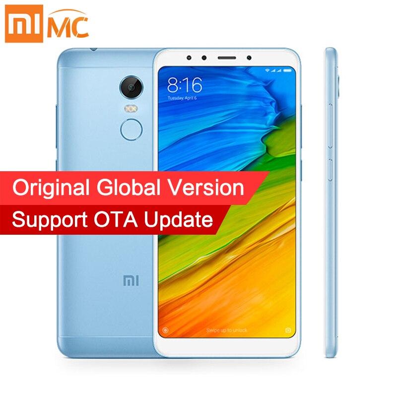 Xiaomi Redmi 5 плюс 4 ГБ 64 ГБ Глобальный Версия мобильных телефонов 5,99 дюймов 1080 P полный Экран Snapdragon 625 красочные металлический корпус 4000 мАч