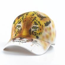 Leopard zwierząt czapka z daszkiem czapka z daszkiem kobiety bawełniane czapki z daszkiem dziewczyny lato czapka z daszkiem moda Streetwear czapka z daszkiem hip hop kapelusz tanie tanio COTTON Dla dorosłych WOMEN Jeden rozmiar Na co dzień Regulowany ZB081 furandown animal baseball cap 3D Leopard paint hip hop