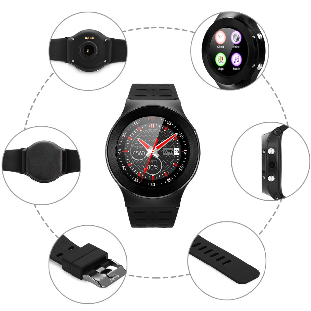 Diggro S99 MTK6580 Android 5.1 SmartWatch Phone 3G SIM card Wifi Bluetooth Fitness Tracker Camera for android phone